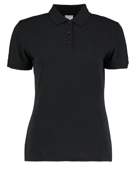 Women's Klassic Slim Fit Polo in black