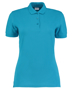 Women's Klassic Slim Fit Polo in blue