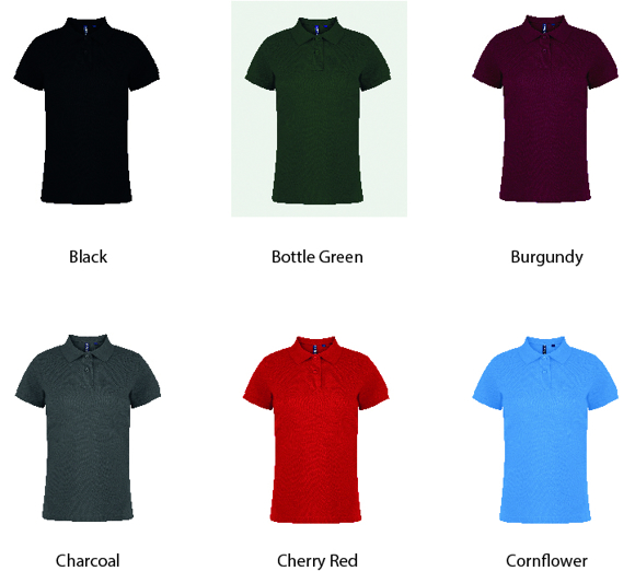 Women's Polo showing various colour options