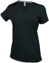 Women's Short Sleeve V-Neck T-shirt in black