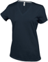 Women's Short Sleeve V-Neck T-shirt in dark grey