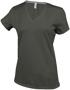 Women's Short Sleeve V-Neck T-shirt in khaki