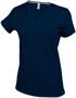 Women's Short Sleeve V-Neck T-shirt in navy