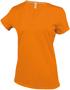 Women's Short Sleeve V-Neck T-shirt in orange
