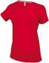 Women's Short Sleeve V-Neck T-shirt in red