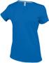 Women's Short Sleeve V-Neck T-shirt in blue