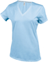 Women's Short Sleeve V-Neck T-shirt in light blue