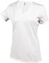 Women's Short Sleeve V-Neck T-shirt in white