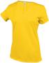 Women's Short Sleeve V-Neck T-shirt in yellow