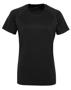 Women's TriDri® Panelled Tech Tee in black