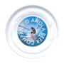 Antimicrobial Mini Turbo Flying Disc in white with full colour print