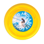 Antimicrobial Mini Turbo Flying Disc in yellow with full colour print