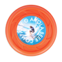 Antimicrobial Mini Turbo Flying Disc in orange with full colour print