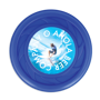 Antimicrobial Mini Turbo Flying Disc in blue with full colour print