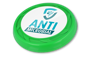 Antimicrobial Turbo Pro Flying Disc in green with full colour print