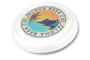 Antimicrobial Turbo Pro Flying Disc in white with full colour print