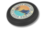 Antimicrobial Turbo Pro Flying Disc in black with full colour print