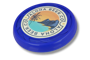 Antimicrobial Turbo Pro Flying Disc in blue with full colour print