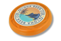 Antimicrobial Turbo Pro Flying Disc in orange with full colour print