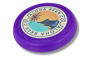 Antimicrobial Turbo Pro Flying Disc in purple with full colour print