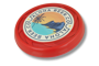 Antimicrobial Turbo Pro Flying Disc in red with full colour print