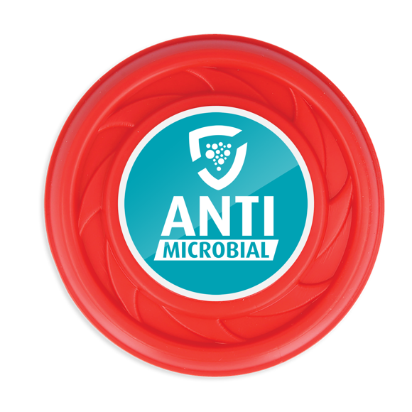 Antimicrobial Mini Turbo Flying Disc in red with full colour print