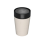 rCUP 8oz in beige with black lid