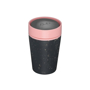 rCUP 8oz in black with pink lid