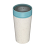 rCUP 12oz in beige with blue lid