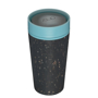 rCUP 12oz in black with blue lid