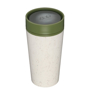 rCUP 12oz in beige with green lid