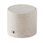 Wheat Straw Round Bluetooth Speaker in beige