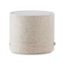 Wheat Straw Round Bluetooth Speaker in beige side view