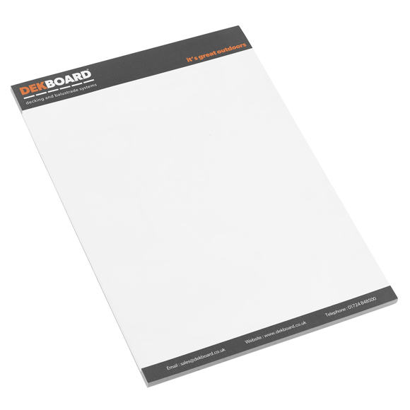 Conference Pads in white with 3 colour print