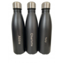 Insulated Hot and Cold Drinks Bottle in matt black with engraving
