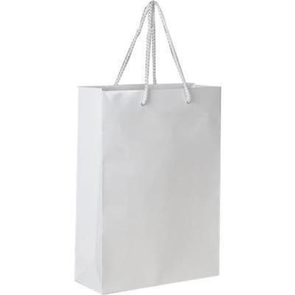 white gloss laminated bag