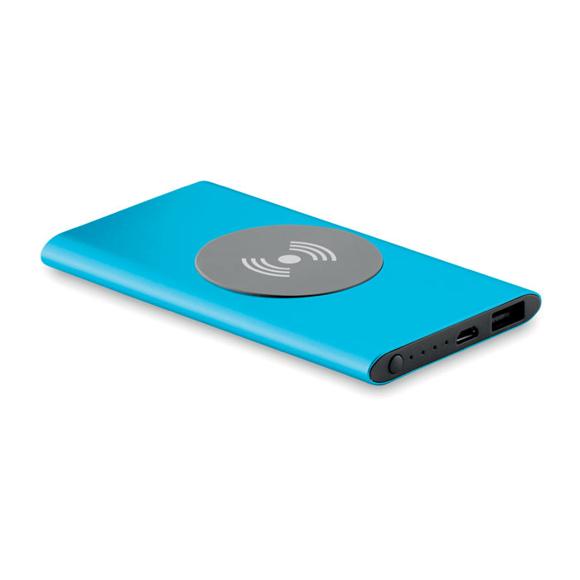 wireless powerbank in blue