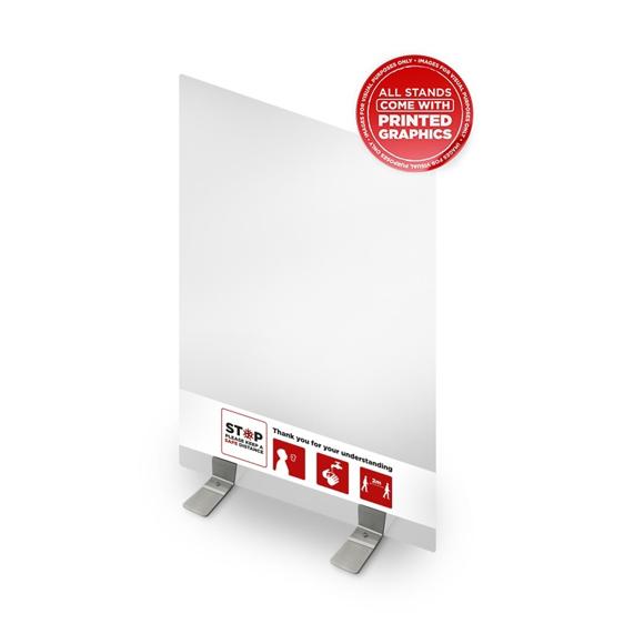 acrylic freestanding shield