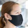 a black reusable face covering