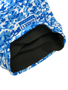 blue snood with a black fleece lining