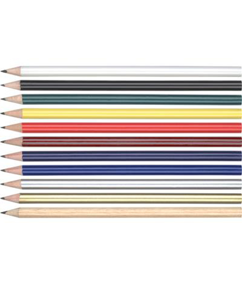 wooden pencil in range of colours without an eraser