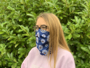 full colour snood with daisy print angled to the side
