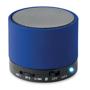 blue round bass bluetooth speaker