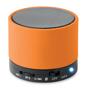 orange round bass bluetooth speaker