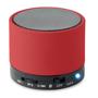 red round bass bluetooth speaker