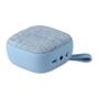 blue square fabric bluetooth speaker