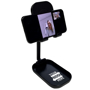 black adjustable phone stand with phone video call side on