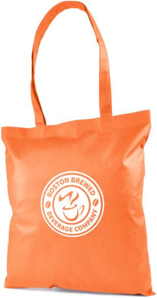 Tucana Shopper Bag with 1 Colour Print orange