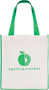 Printed shopper bag with coloured trims Green