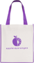 Printed shopper bag with coloured trims Purple